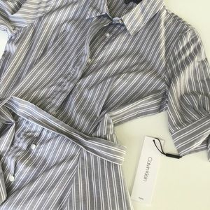 Calvin Klein Stripe Shirt Dress